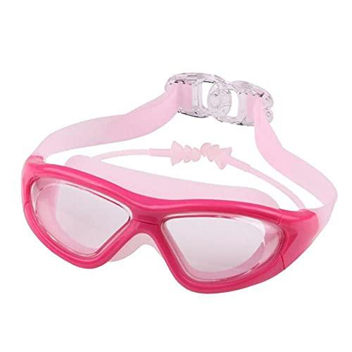 UKKD Gafas Natación Gafas De Natación De Silicona Anti-Niebla Y Anti-Ultravioleta Gafas De Natación con Tapones para Los Oídos