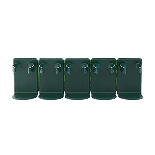 Juego de 5 soportes para tarros de cocina montados en la pared, diseño de bricolaje y especias, organizador para armarios, lado de nevera