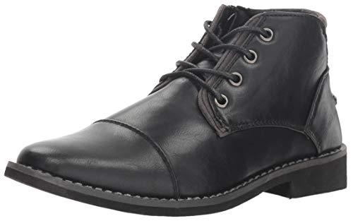 Deer Stags Boy's Hamlin Memory Foam Dress Comfort Cap Toe Boot, Black, 1 Medium US Little Kid