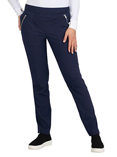 KOI Basics 6-Pocket Elastic Waistband Jane Scrub Pant for Women Navy M