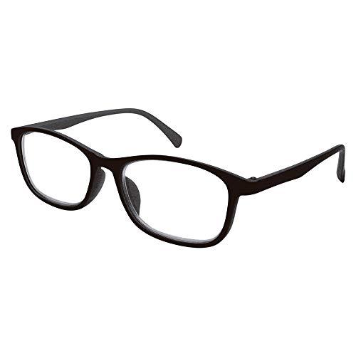 イーチャンス ビスマックス オートフォーカス グラス 老眼鏡 遠近両用 めがね 多焦点レンズ 眼鏡 リーディンググラス シニアグラス メガネケース 兼 メガネ拭き(ブラック)