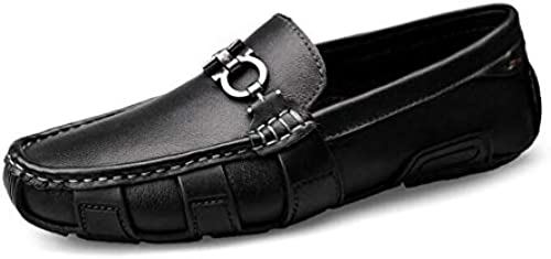 Herrenschuhe, Feder- Herbstleder und Slip-Ons Lazy Schuhe, Soft Sole Comfort Comfort Comfort Driving schuhe, Walking Gym Schuhe Radschuhe,schwarz,37  Große Auswahl