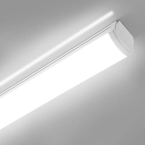 LED Feuchtraumleuchte 120cm, Oraymin IP66 Wasserdichte LED Leuchtstoffröhre, 40W 4400LM Flimmerfreie Deckenlampe, LED Deckenleuchte für Feuchtraum, Werkstatt, Garage, Keller, Lager, 4000K Neutralweiß