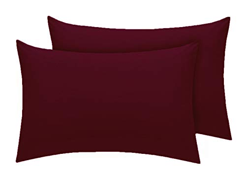 Comfy Nights Pollycotton Pair Of Pillow cases - Wine/Burgandy