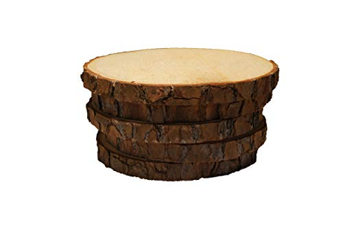 5 Pack Round Rustic Woods Slices, 7'-9', Unfinished Wood, Great for Weddings Centerpieces, Crafts