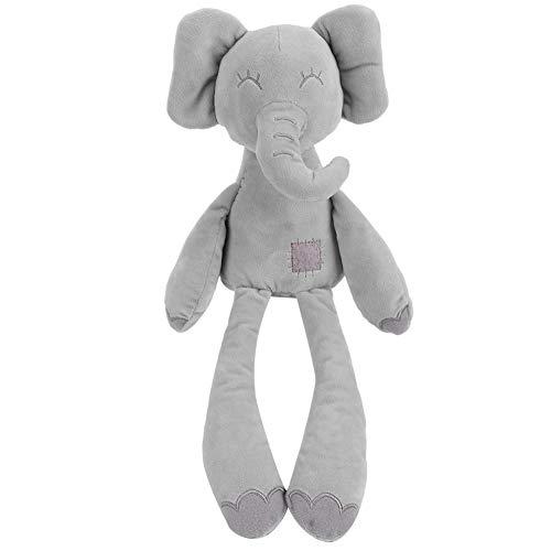 Schattige olifant comfort poppen knuffels poppen baby begeleiden slaap om te sussen pop speelgoed baby zachte educatieve knuffel (grijs)(Grijs)