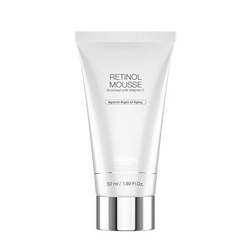 Vitabay Retinol Mousse 50 ml • Anti-Aging Tagescreme • Mit Vitamin A & C + Hyaluronsäure • Für reine Haut