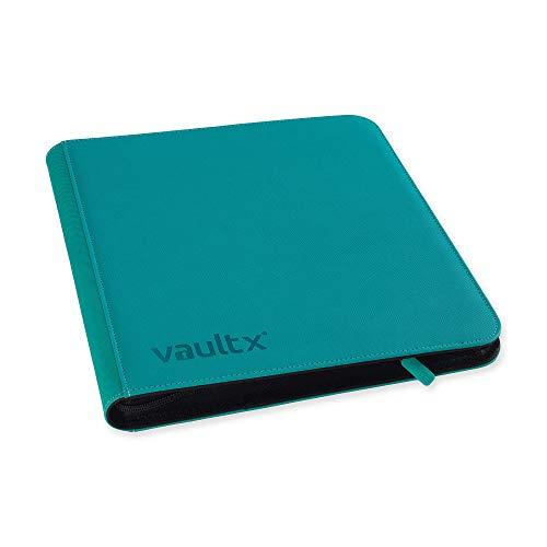 Vault X - Raccoglitore a 12 tasche per biglietti da trading con 480 tasche laterali per TCG, colore verde acqua