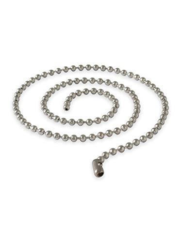Fly Style Kugelkette Edelstahl Silber · Stärken 1,6-8mm · Längen 20-180 cm · Dog Tag Halskette für Herren und Damen, Stärke:4 mm, Längen:ca. 180 cm
