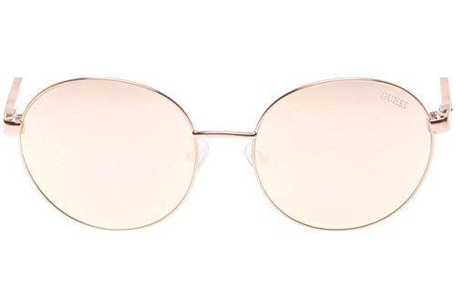 Occhiali da sole polarizzati Guess GU7388 C58 28G (shiny rose gold / brown mirror)