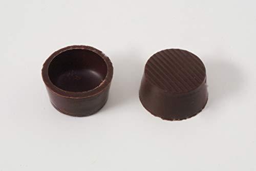 63 Stk. Pralinenschalen - Schokoladen Halbschalen Rund Edelbitter mit Rezeptvorschlag