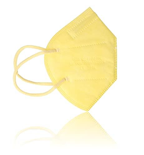 AKA FFP2 Atemschutzmasken 10 Stück einzeln verpackt CE-zertifiziert (gelb)