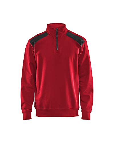 Blaklader 33531158 Demi-Zip 2 Tons, Rouge/ Noir, Taille M