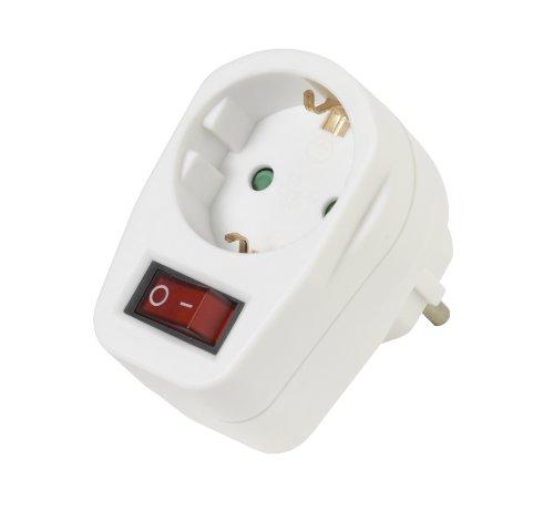 Vivanco 22396 - Protector de sobretensión (indicador LED, interruptor de encendido), blanco