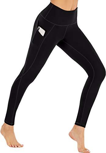 Ewedoos Leggings with Pockets for Women High Waisted Yoga Pants for Women with Pockets Soft Workout Leggings for Women Black
