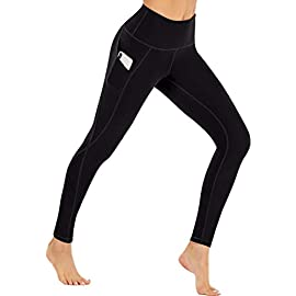 Ewedoos Fleece Lined Leggings with Pockets for Women- Winter Leggings for Women High Waisted Thermal Workout Leggings 1 ❄FLEECE LINING INTERIOR - With buttery soft fleece interior, Our Heat-tech Warm Leggings for Winter will fit you like a second layer of skin and offer you both Comfort & Warmth when temperature drops. Whether you are hitting the gym or lounging at home, these are the great Fleece Leggings for Women that make great Christmas Gifts & Holiday Presents. ❄SQUAT PROOF STRETCHY FABRIC - To ensure maximum comfort and long lasting warmth in winter, Ewedoos Thermal Leggings for Women are designed with a High tech 4-Way Stretchy Material. The Moisture-management fabric will wick your sweat away while retaining heat inside. Whether you're stretching, bending or squatting, our thermal yoga pants will always stay put and provide all the support you need. ❄FUNCTIONAL SIDE POCKETS - Say goodbye to bulky backpack and say hello to our innovative & stylish Yoga Pants. Our Ewedoos Thermal Workout Leggings for Women come with 2 Side Pockets to offer you maximum convenience. Whether you need pockets to keep your phone, house keys or cash, these will be the performance leggings for you.