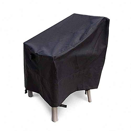 lINOC Garden Furniture Cover Waterproof Patio Furniture Covers Black Suitable for Chairs Loveseats Three-seater Four-person Chair,190×66×89/63cm
