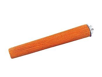 Nobby Mineral Stones Perchoir Minéral pour Oiseau Orange 22 cm