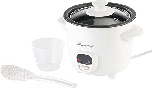 Rosenstein & Söhne Reiskocher klein: Mini-Reiskocher mit Warmhaltefunktion, 0,5 Liter, 350 Watt (Reise Reiskocher)