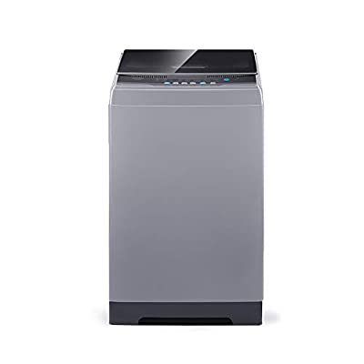 COMFEE' 1.6 Cu.ft Portable Washing Machine, 11lbs Capacity Fully Automatic Compact Washer with Wheels, 6 Wash Programs Laundry Washer with Drain Pump, Ideal for Apartments, RV, Camping, Magnetic Gray