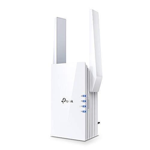 TP-LINK RE605X - Repetidor WiFi 6 AX1800, Amplificador Señal WiFi, Puerto Gigabit, Banda Dual 2.4 GHz / 5GHz.Puerto Gigabit Modo Ap, Botón WPS, Luz Señal Inteligente, Control Parental.