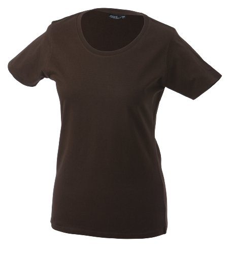 James & Nicholson Damen T-Shirt Basic Medium brown