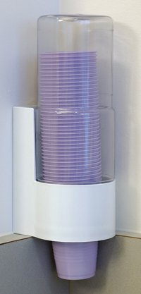 PCC Part# PCC - Dispenser Cup 5oz For Plastic Cups White/ Clear Ea By Crosstex International