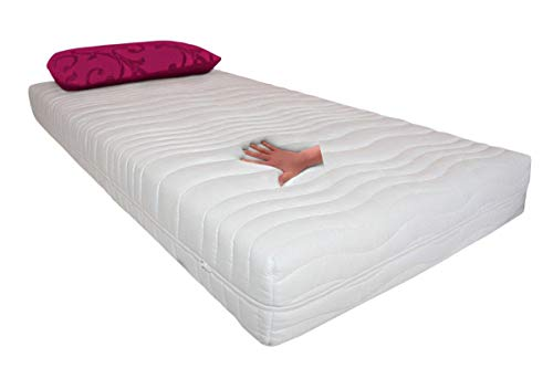 Supply24 Gelmatratze/Gelschaum Matratze Comfort Höhe 20 cm, Made in Germany, 5 cm Gel (Schaum) + Kaltschaum H2 / Memory Schaum Schlafen Sie ähnlich wie im Wasserbett günstig (90 x 200 cm)