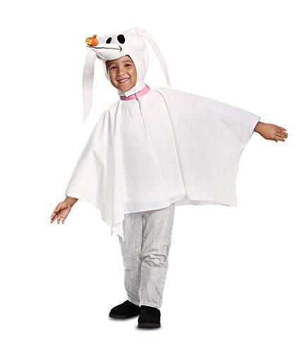 Disguise Disney Zero Nightmare Before Christmas Toddler Boys Costume, White, Medium (3T-4T)