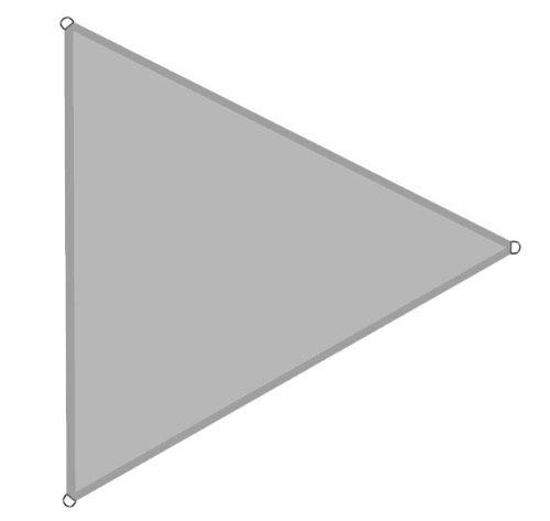 6x6x6m silber-grau Sonnensegel Sonnenschutz Zelt Sonnenschirm Windschutz Modell Elecsa 371