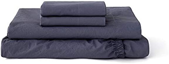 Tuft & Needle, Percale Sheet Set, 215 Thread Count, 100% Cotton - Queen - Slate