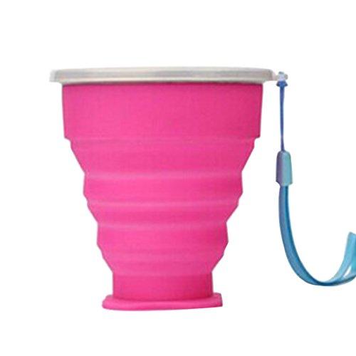 Luwu-Store Vaso Plegable, retráctil, telescópico, 200 ml,