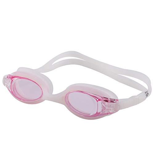 MHP waterdichte anti-condens-zwembril voor volwassenen, met zwembril roze