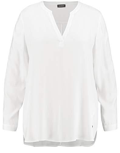 Samoon Damen 360408-21407 Bluse, Elfenbein (Offwhite 9700), (Herstellergröße: 52)