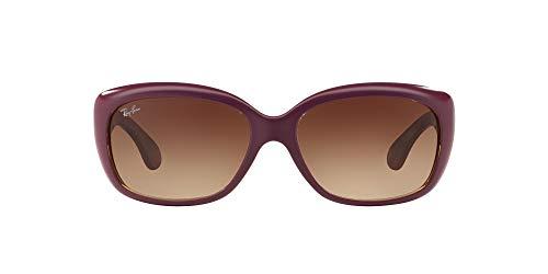 Ray-Ban Damen Sonnenbrille RB4101, Gr. 58 mm, Matte Violett/Gradient Braun