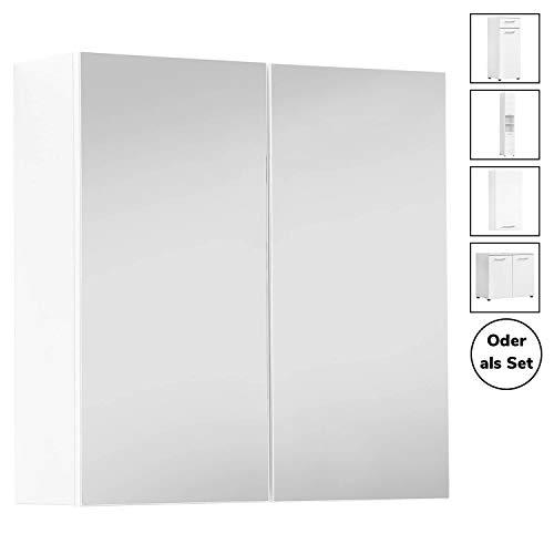 mokebo® Bad Spiegelschrank 'Die Badenixe', moderner Badschrank mit Spiegel, Badezimmerschrank oder Badmöbel Set, Made in Germany