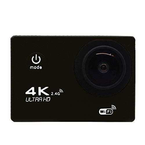 XZYP CáMara De AccióN Digital A Prueba De Agua K48 con Pantalla TáCtil 4K VíDeo HD 12Mp Fotos TransmisióN En Vivo EstabilizacióN (Siete Colores),Black