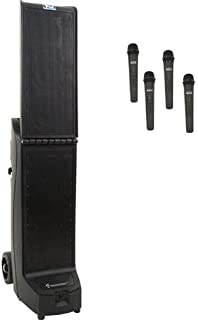 a Anchor Audio Bigfoot with Built-in Bluetooth, AIR Wireless Transmitter & Two Dual Wireless mic receivers, BIG2-XU4
