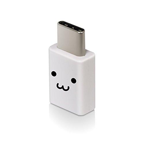 エレコム USB TYPE C 変換アダプタ 3A出力で超急速充電 [micro-B端子をUSB Type-C端子に変換] ホワイトフェイス MPA-MBFCMADNWHF