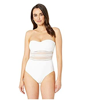 Jets by Jessika Allen Women s Aspire Bandeau One Piece Swimsuit White US 10 / AUS 15