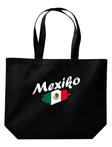 Shirtinstyle Grande Bolsa de Compras México Bandera, Land, Países - Negro, 35...