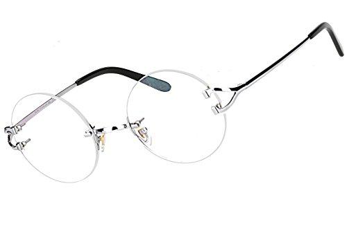 Agstum Pure Titanium Round Prescription Rimless Eyeglasses Frame
