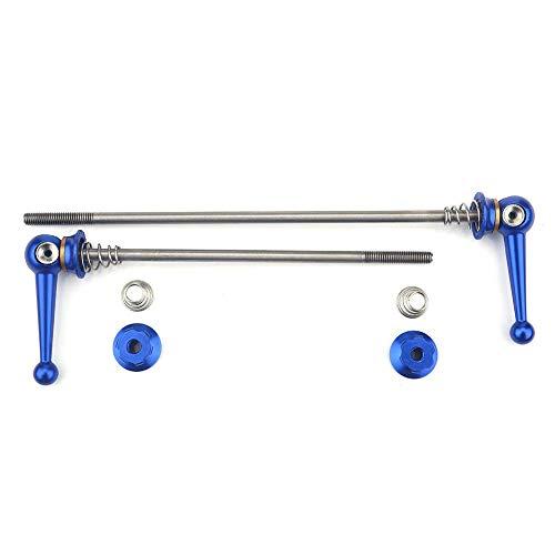 Keenso 2 stücke Ultraleicht Titanium Legierung schnellspanner Set Fahrrad ersatz ersatzteile zubehör(Blau)