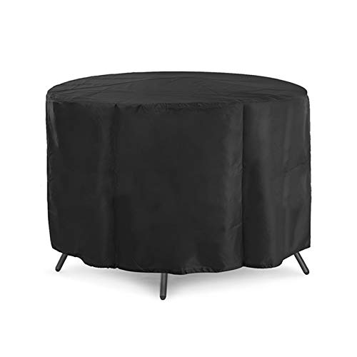 FOGUO Patio Furniture Covers Round Table185X110cm, Garden Furniture Covers Waterproof, Heavy Duty Outdoor Furniture Cover, Waterproof Heavy Duty Durable, Oval Patio Table Cover