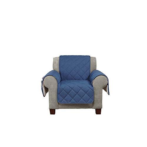 SureFit  Denim with Sherpa Fleece Chair Furniture Cover, Indigo