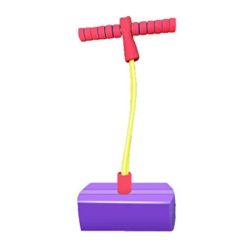 WENJIA Pogo Stick para Niños Childrens Fun Safe Soft Pogo Stick Bungee Jumper Pogo Saltarin,Súper Ligero Fácil De Saltar,Ayuda A Entrenar El Equilibrio (Color : Purple 2)