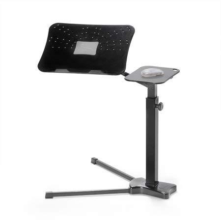 Lounge-Book Black - Tavolino Regolabile con Supporto ergonomico per Laptop Notebook, PC Portatili Tablet ed E-Book. Lavora da casa con Il Massimo Comfort.