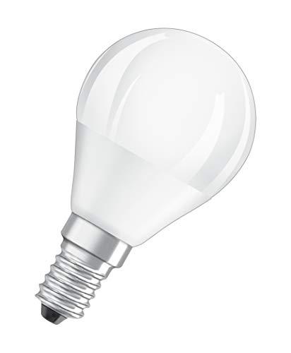 Osram Lampadine LED Sfera, 5W Equivalenti 40W, Attacco E14, Luce Calda 2700K, Confezione da 5