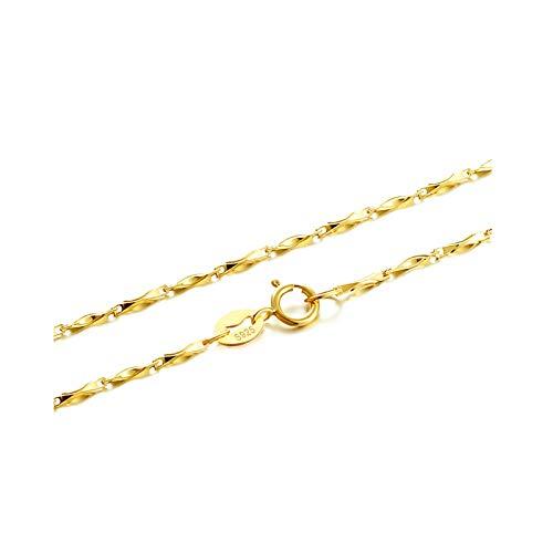 Aeici Colgante Mujer Acero Cadena Barra Collares para Mujer Oro Rosa Largo 40Cm