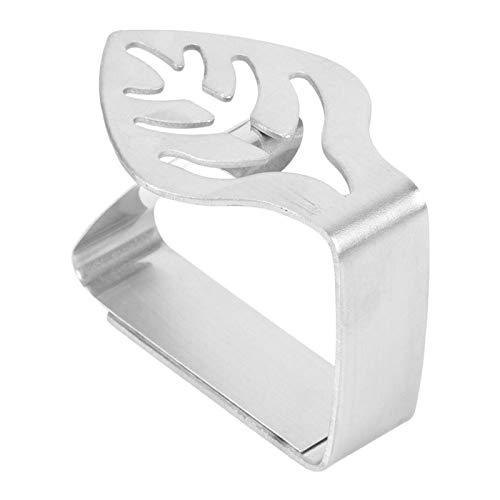 Leylor Clip para Mantel - Clip para Mantel Grueso de Acero Inoxidable Clip para Mantel de Cocina Clip para Mantel Antideslizante(Hoja)